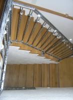 Lesene stopnice rustikalna ograja stopnisca