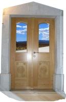 Rustikalna vhodna vrata na parton